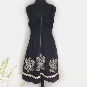 Anthropologie Floreat Black Eyelet Dress